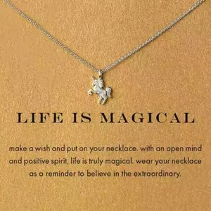 Jewelry - Life is Magical | Silver Unicorn Necklace